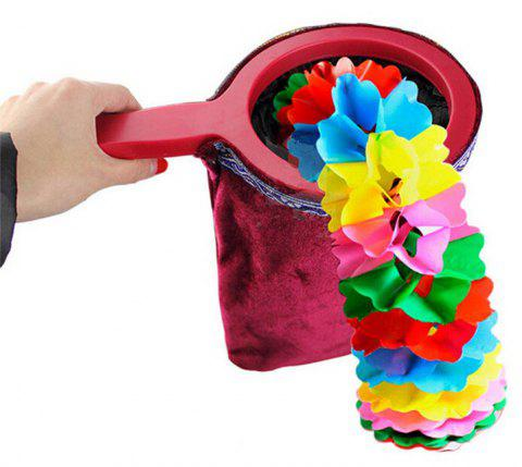 Magic Trick Change Bag Prop with Handle Appear / Disappear - FIREBRICK