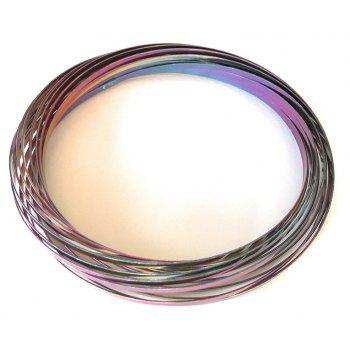 Flow Ring Kinetic Toy Creates Rainbow Effect Kids Children Gift ADHD Autism - multicolor A