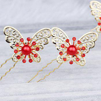 Hollow Out Butterfly Hair Pin - GOLD