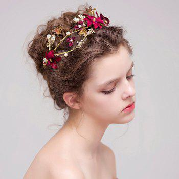 New Style Flower Butterfly Head Decoration - RUBY RED