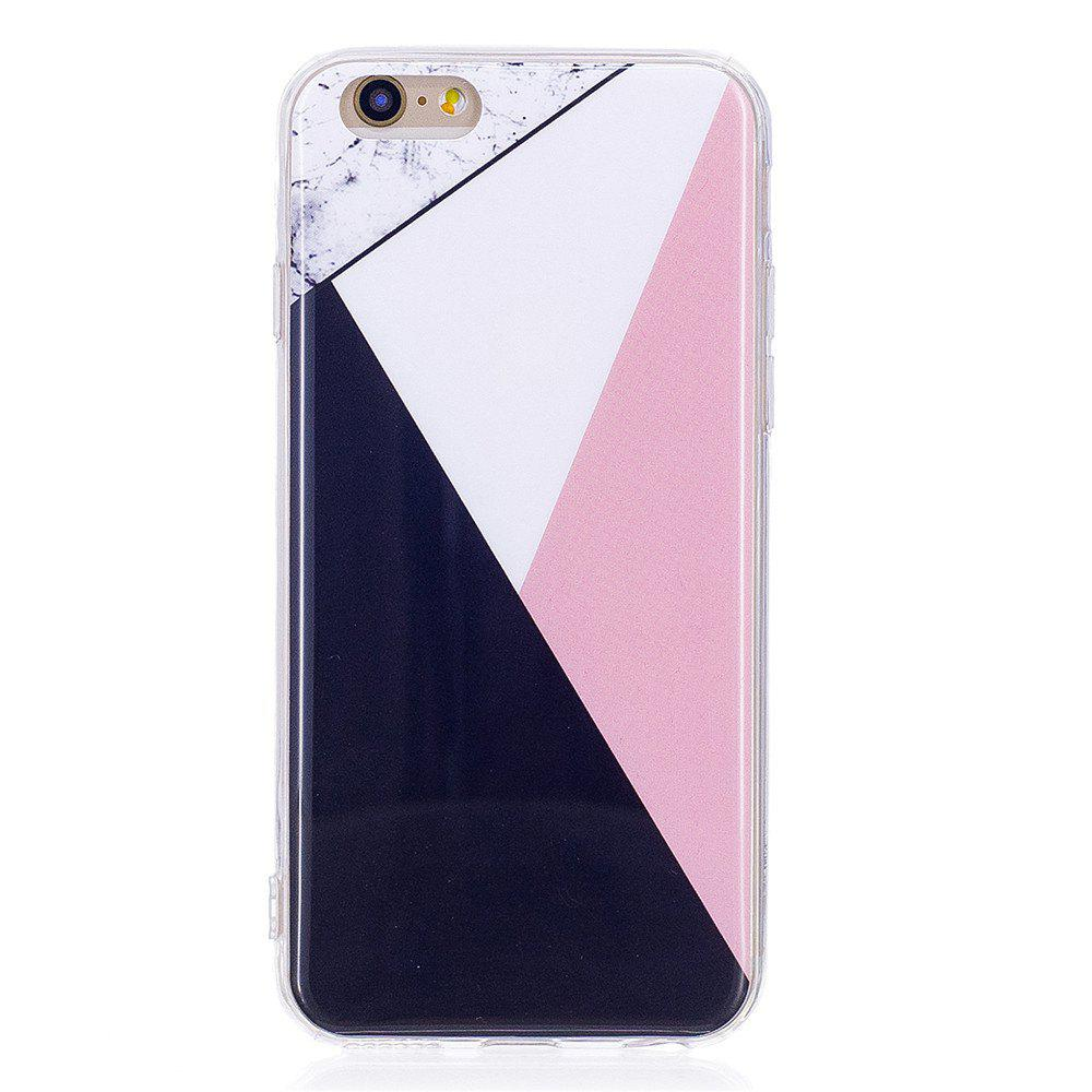 Mixed Color Mosaic Fashion Marble Soft TPU Phone Case for iPhone 6/6S - WHITE