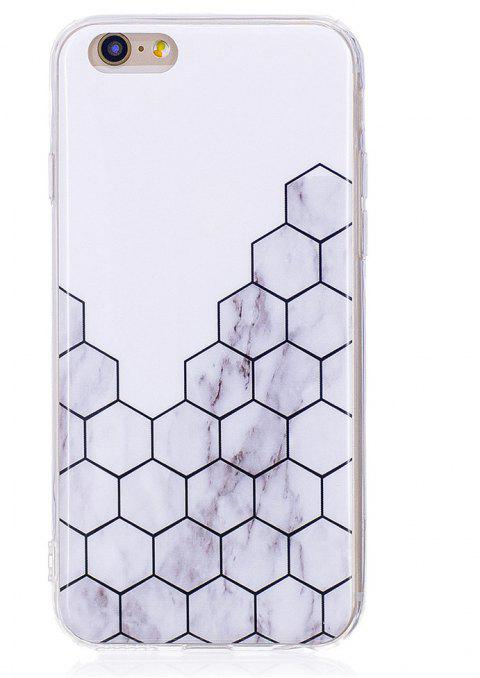 Ultra Thin Plaid Fashion Marble Soft TPU Phone Case for iPhone 6/6S - WHITE