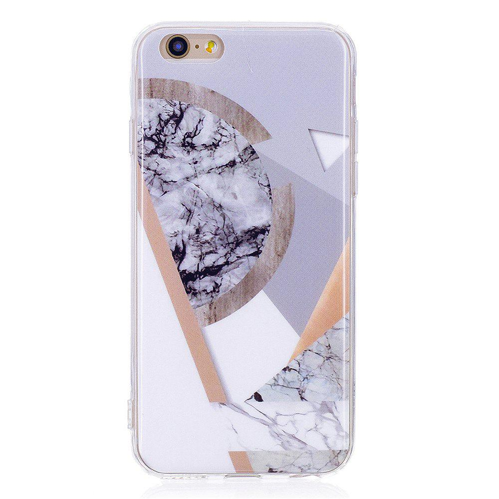 Ultra Thin Mosaic Fashion Marble Soft TPU Phone Case for iPhone 6/6S - WHITE
