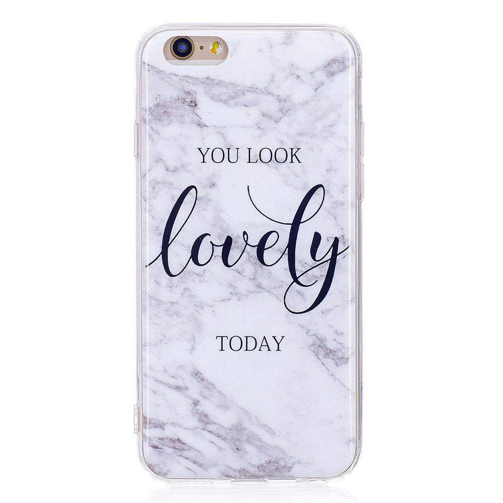 Ultra Thin Lovely Characters Fashion Marble Soft TPU Case for iPhone 6/6S - WHITE