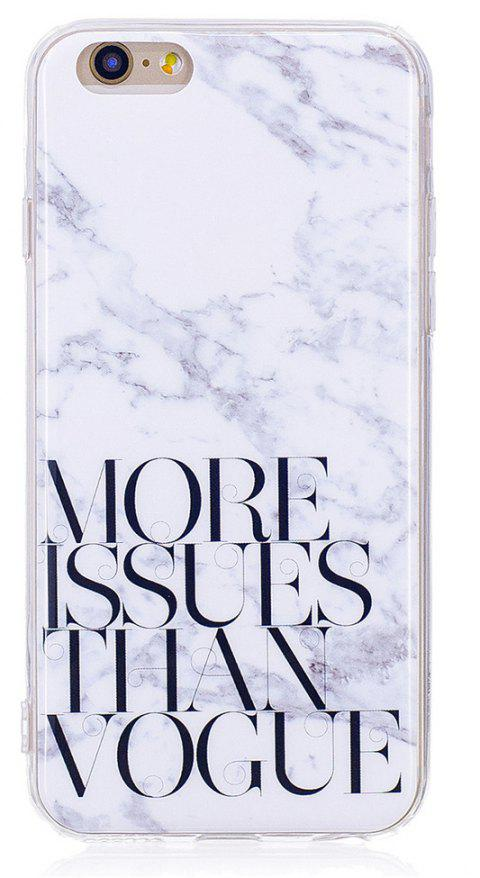 Characters Fashion Marble Soft TPU Phone Case for iPhone 6 / 6S Plus - WHITE