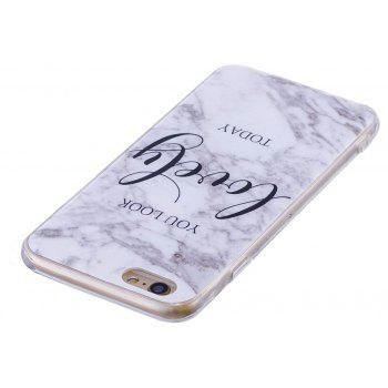 Ultra Thin Lovely Characters Fashion Marble TPU Case for iPhone 6 / 6S Plus - WHITE