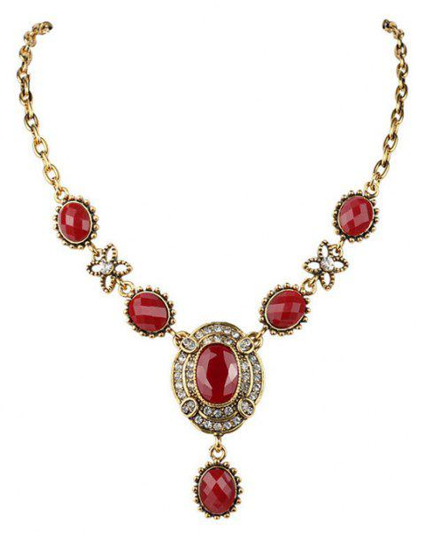 Mode Ruby Exaggerated Diamond Femme Collier oeBrCdx