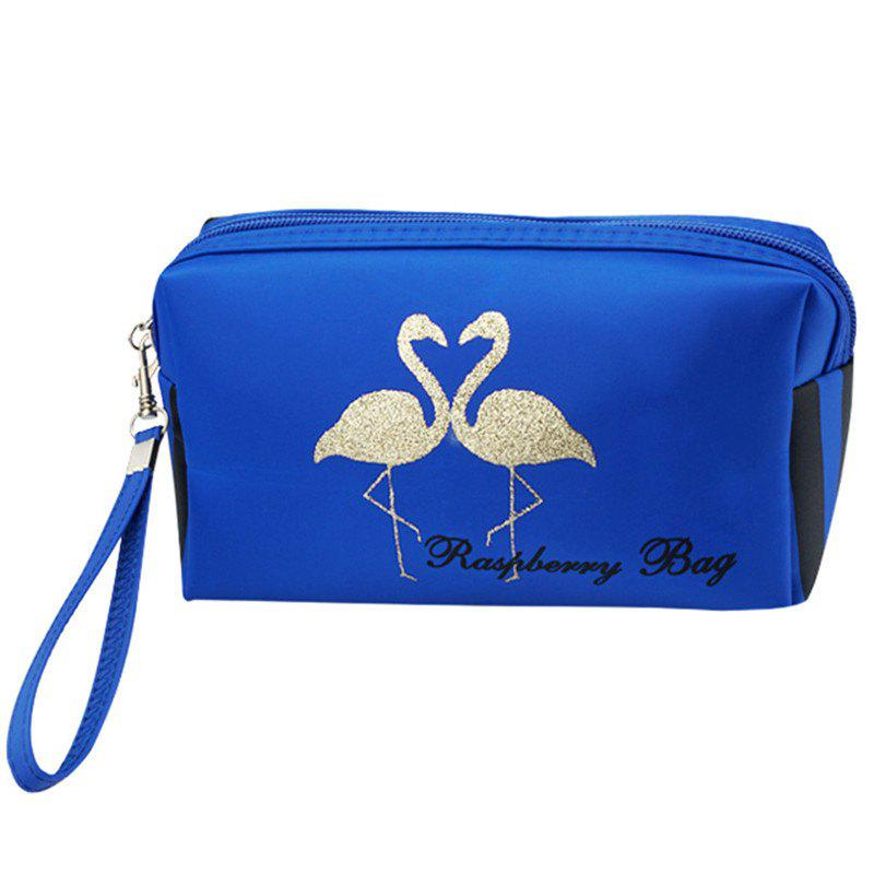 Flamingo Large Capacity Travel Cosmetic Bag - BLUE ORCHID