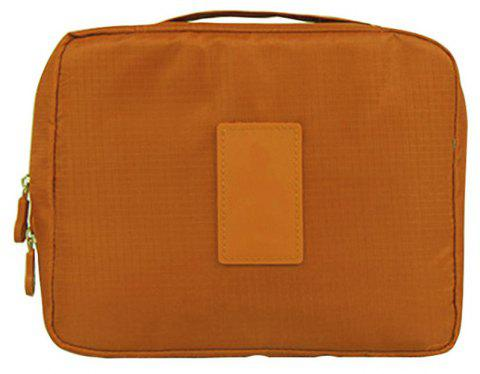 Large-capacity Travel Carrying Cosmetic Wash Bag - BROWN