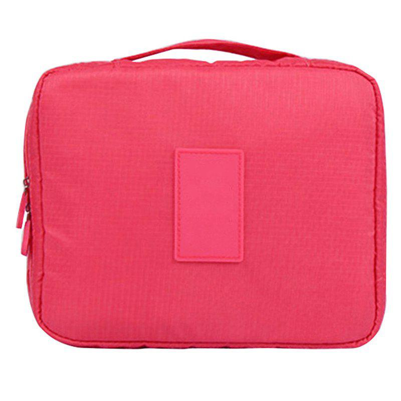 Large-capacity Travel Carrying Cosmetic Wash Bag - ROSE RED