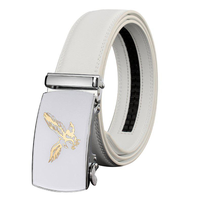 ZHAXIN 3007 Eagle Pattern Metal Automatic Clasp Man Belts - WHITE 130CM