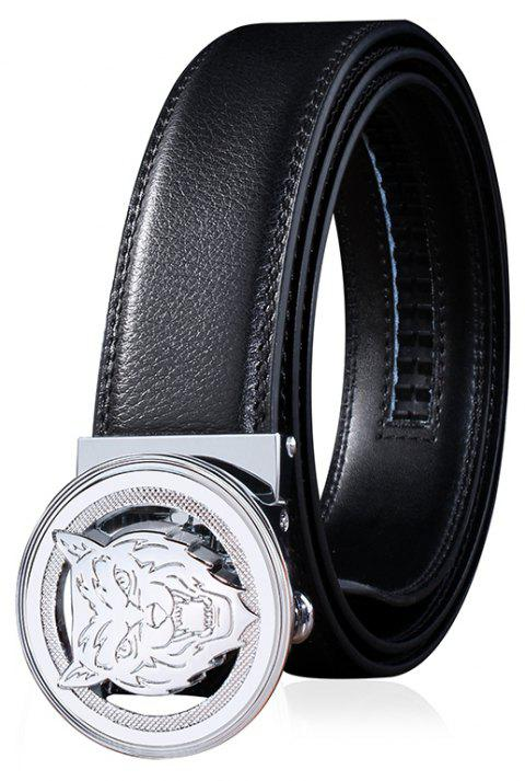 ZHAXIN 3008 Animal Pattern Round Clasp Man Automatic Belt - BLACK 110CM