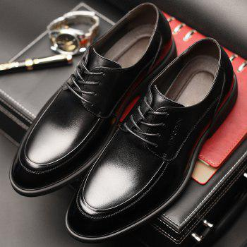 Men Cow Leather Gentle Wedding Dress Offical Business Shoes - BLACK 44