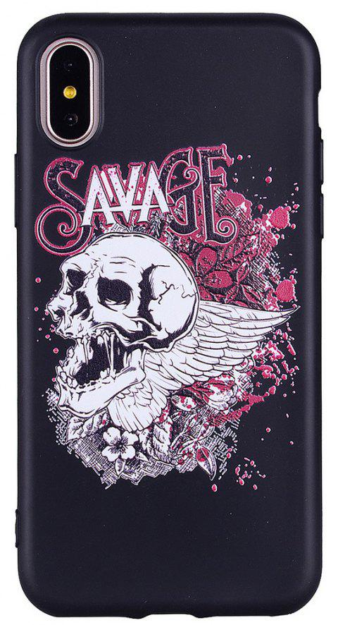 For IPhone X Horror Skeleton Personalities Cell Phone Protection Shell - BLACK