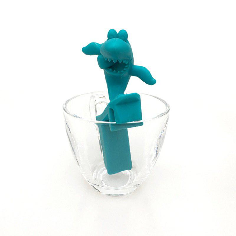 Fabulous Silicone Fish Shape Tea Strainer - CRYSTAL BLUE