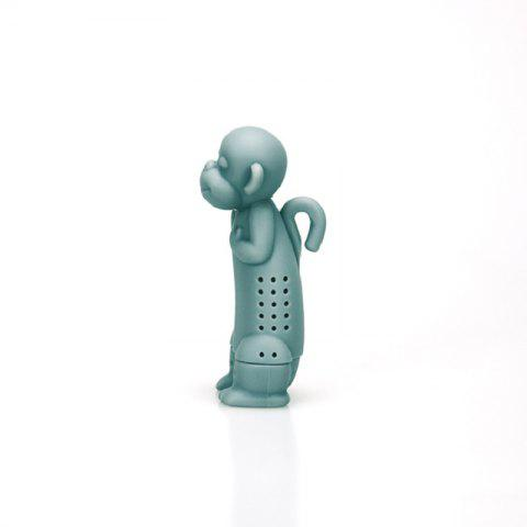 The Monkey Silicone Tea Strainer - BLUE GRAY
