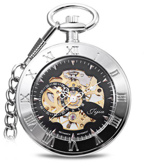 JIJIA JX004 Without Cover Mechanical Pocket Watch - WHITE