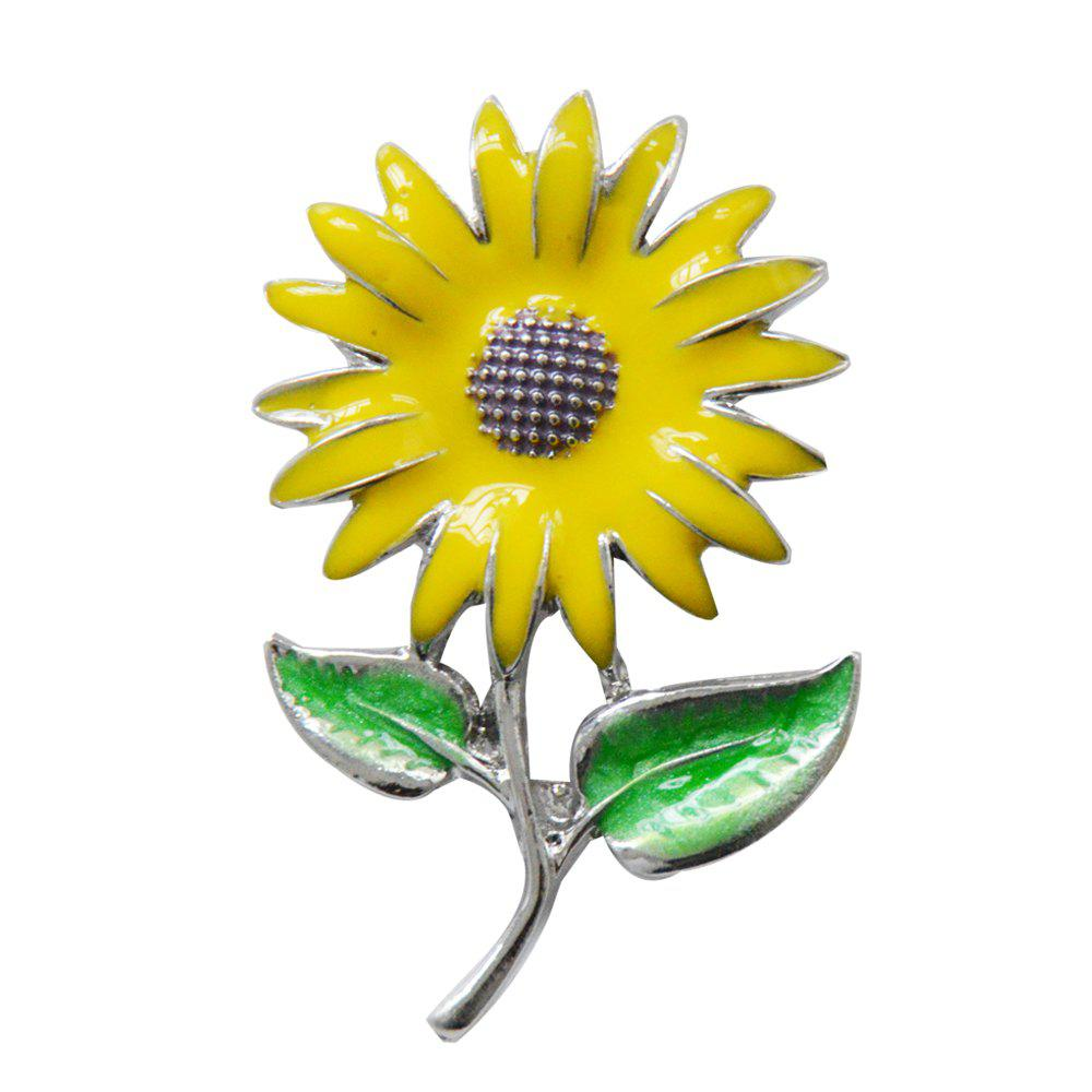 Crystal Sunflower Brooches Lapel Pins For Women Corsage Scarf Dress Decoration new 1pcs single the secret life of pet decoration pvc pins badges brooches collection diy charms fit clothes bags shoes kid gift