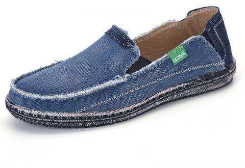 f29d9592301b9f Canvas Men Loafers Summer Slip on Leisure Hiking Casual Beach Sport Sneakers  - BLUE IVY 40