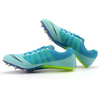 Spike Nail Training Shoes Sprint Athletic Outdoor Casual Running Sport Sneakers - DEEP SKY BLUE 35