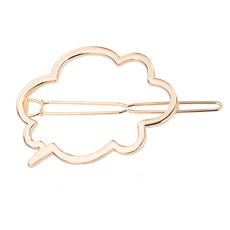 New Clouds Hollow Out Smooth Hairpin Cartoon Hair Accessories - GOLD