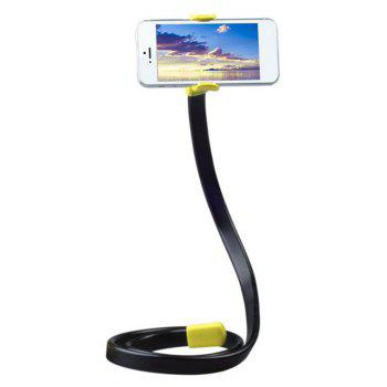 Lazy Mobile Phone Clip Flexible Phone Bracket 360 Rotating Bed Desk Table Clip - YELLOW