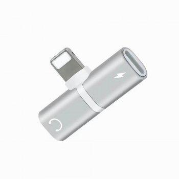 for iPhone 7/7 Plus Adapter 3.5mm Headset Jack Call Audio Charger Connector - WHITE