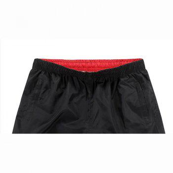 Men's Boho One Piece  Color Block Solid Color Basic Pants Swimming Trunks - VALENTINE RED L