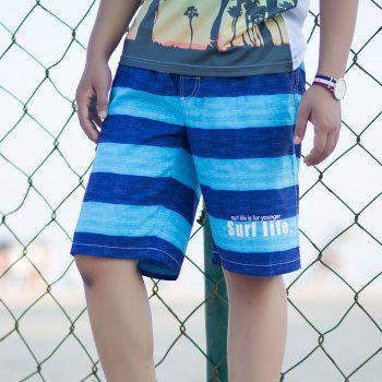 Men's Solid Sexy Fashion Bottoms Swimwear Swimming Trunks - BLUE ORCHID M