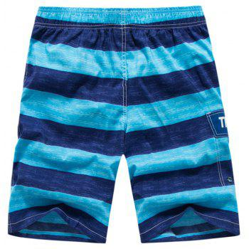 Men's Solid Sexy Fashion Bottoms Swimwear Swimming Trunks - BLUE ORCHID L