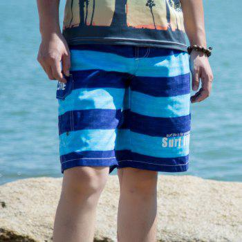 Men's Solid Sexy Fashion Bottoms Swimwear Swimming Trunks - BLUE ORCHID 3XL