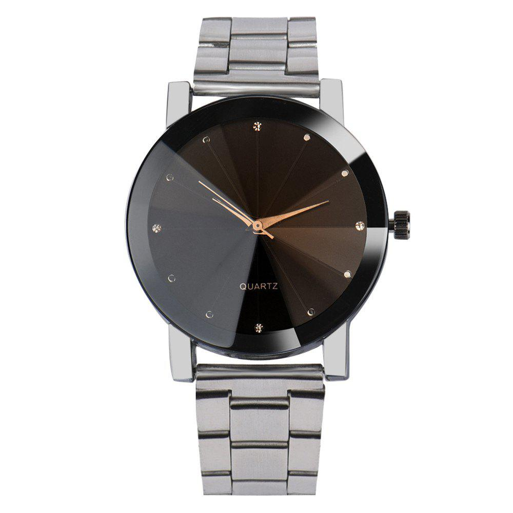 Montre à Quartz Cool V5 Man Fashion en acier inoxydable - Argent