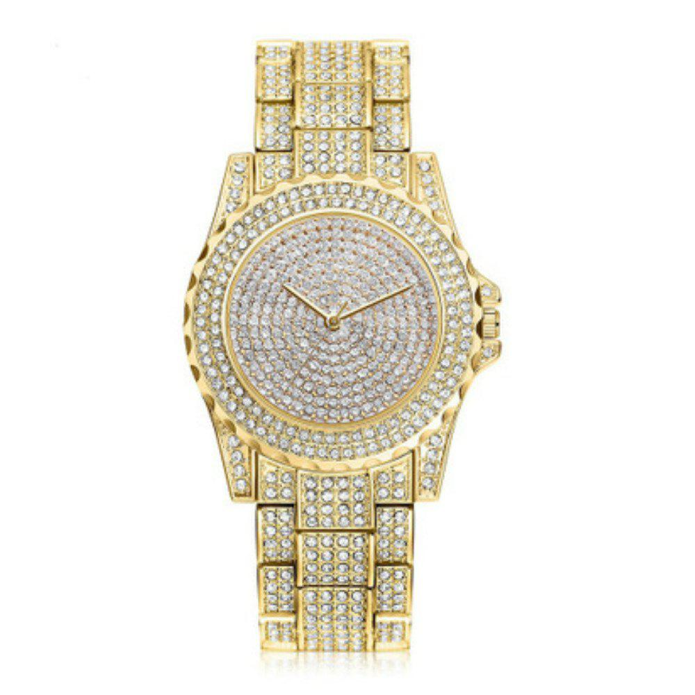 V5 Women New Fashion Rhinestone Quartz Watch - GOLD