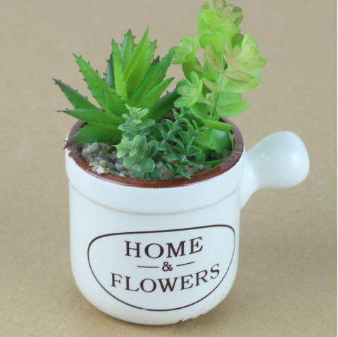 Creative Simulation Of Pastoral Home Accessories Meat Potted Ornaments - FOREST GREEN