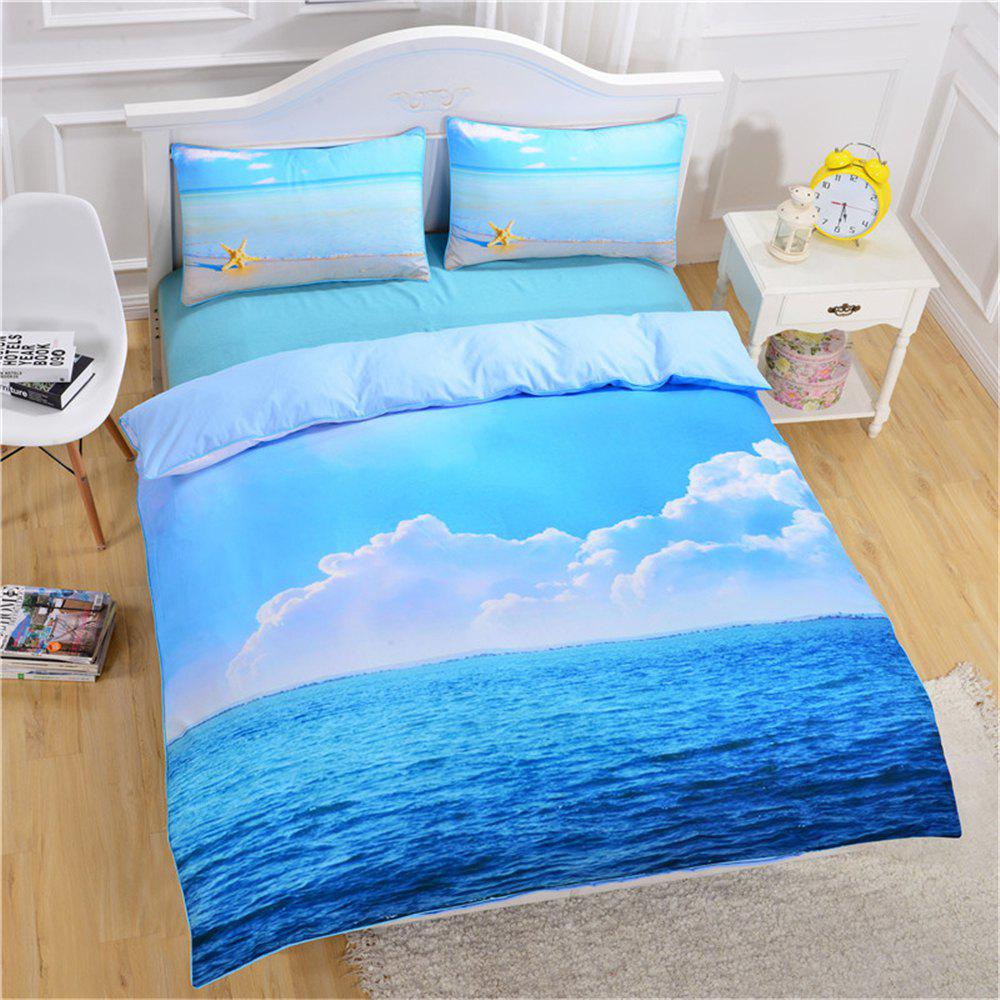 Starfish Ocean Bedding 3pcs Duvet Cover Set Digital Print cartoon tree duvet cover set