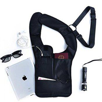 Hidden Underarm Backpack Anti-Theft Mobile Phone Bag - BLACK