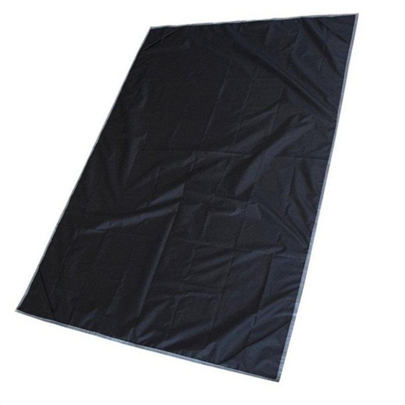 Outdoor Camping Nylon Pocket Picnic Mat Waterproof Convenient Folding Lawn Beach - BLACK
