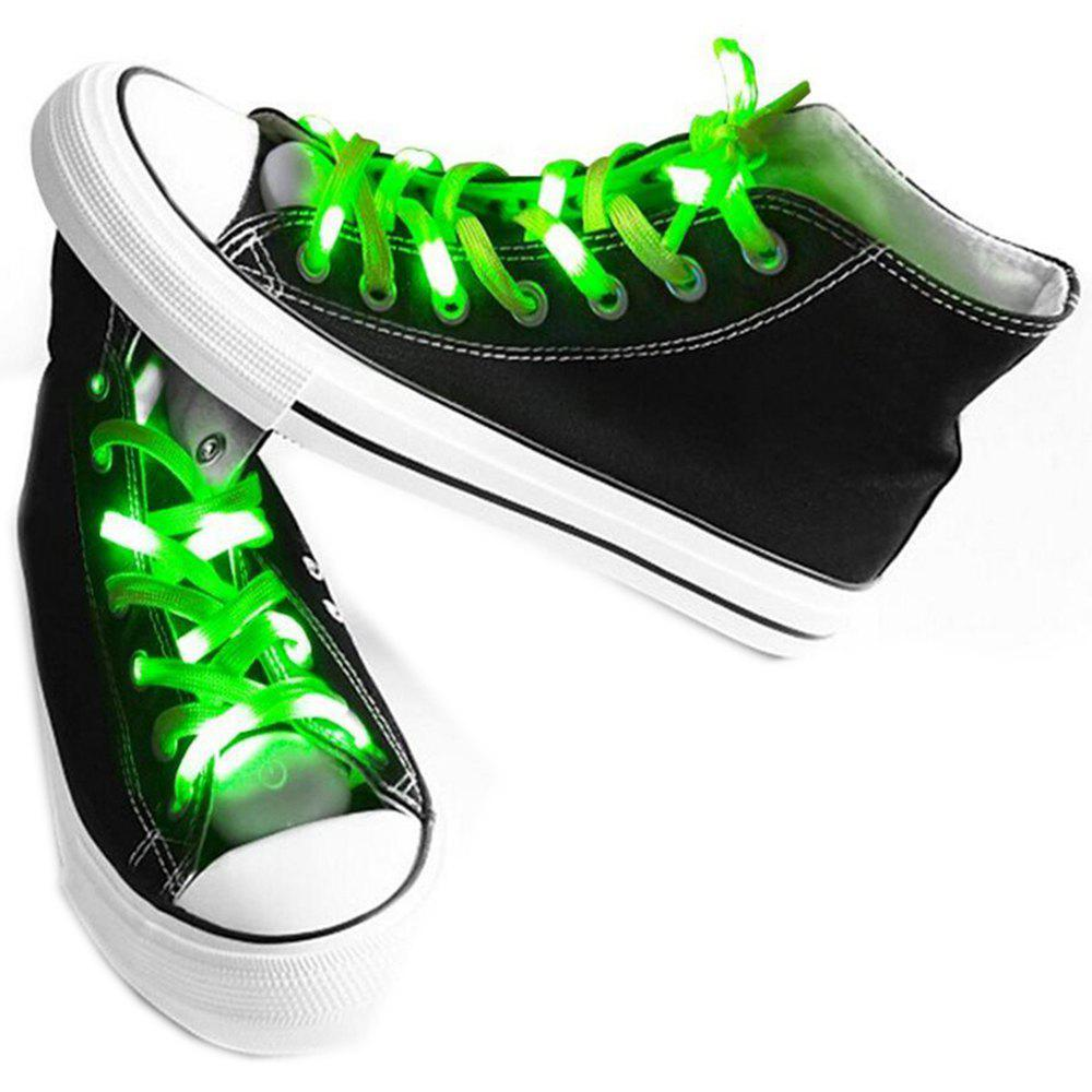 LED Shoelaces for Party Dancing Hip Pop Running Decorations - GREEN