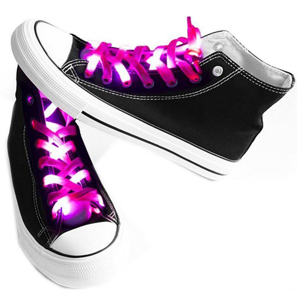 LED Shoelaces for Party Dancing Hip Pop Running Decorations - DEEP PINK
