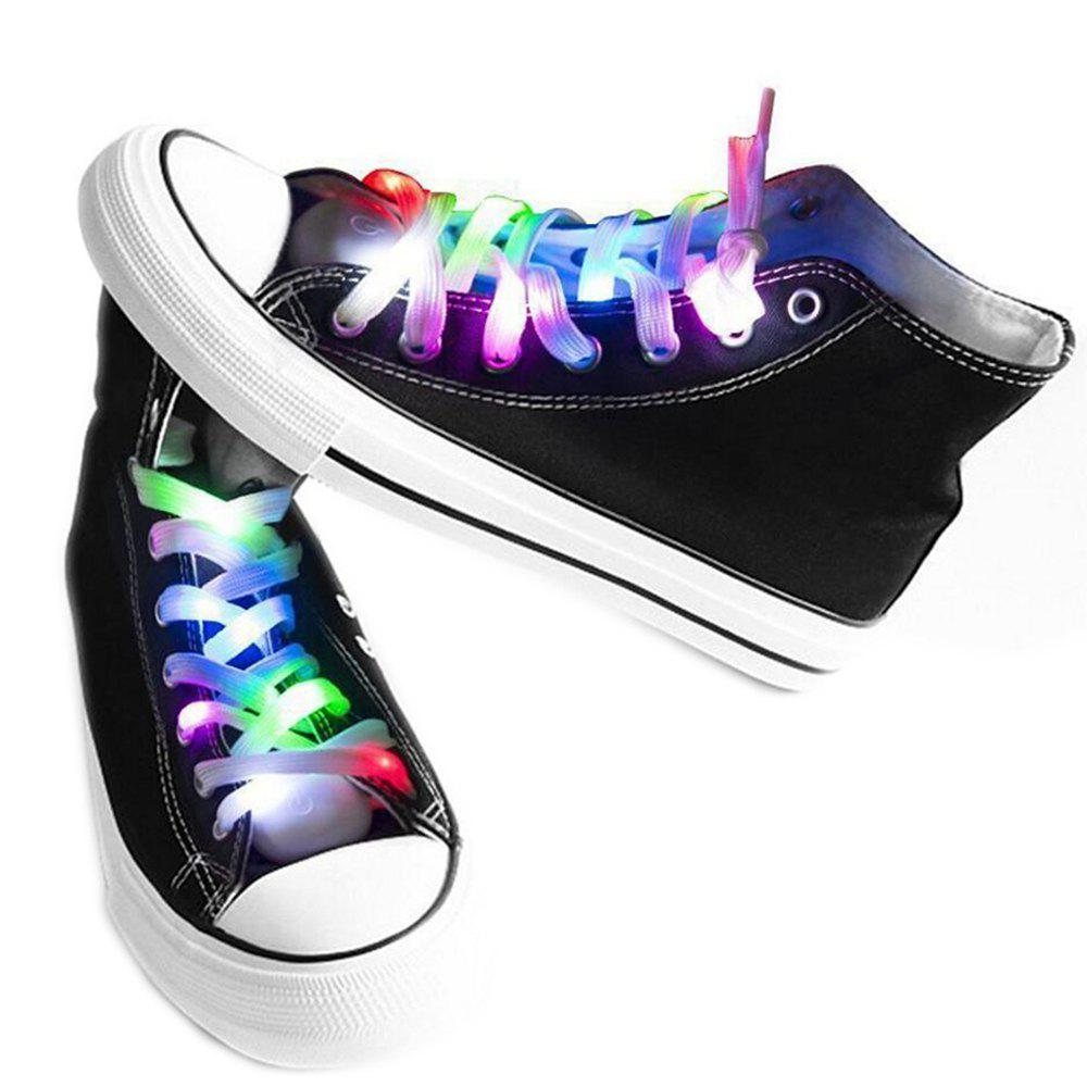LED Shoelaces for Party Dancing Hip Pop Running Decorations - multicolor A