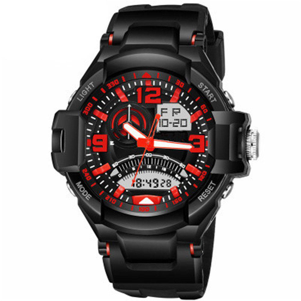 Men Analog-Digital Big Dial Sports Wristwatch - RED