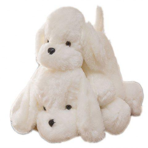 Puppy Plush Toys Car Decoration - WHITE 40CM