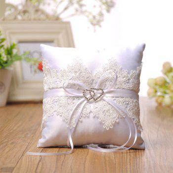 The New Double Heart Lace Pillow - WHITE