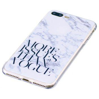 Characters Fashion Marble Soft TPU Phone Case for iPhone 7 Plus - WHITE