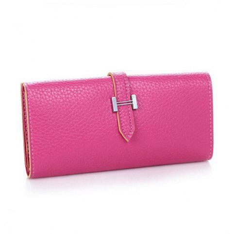 Women Fashion Korean Handbag Solid Color Mini Draw Purse - ROSE RED