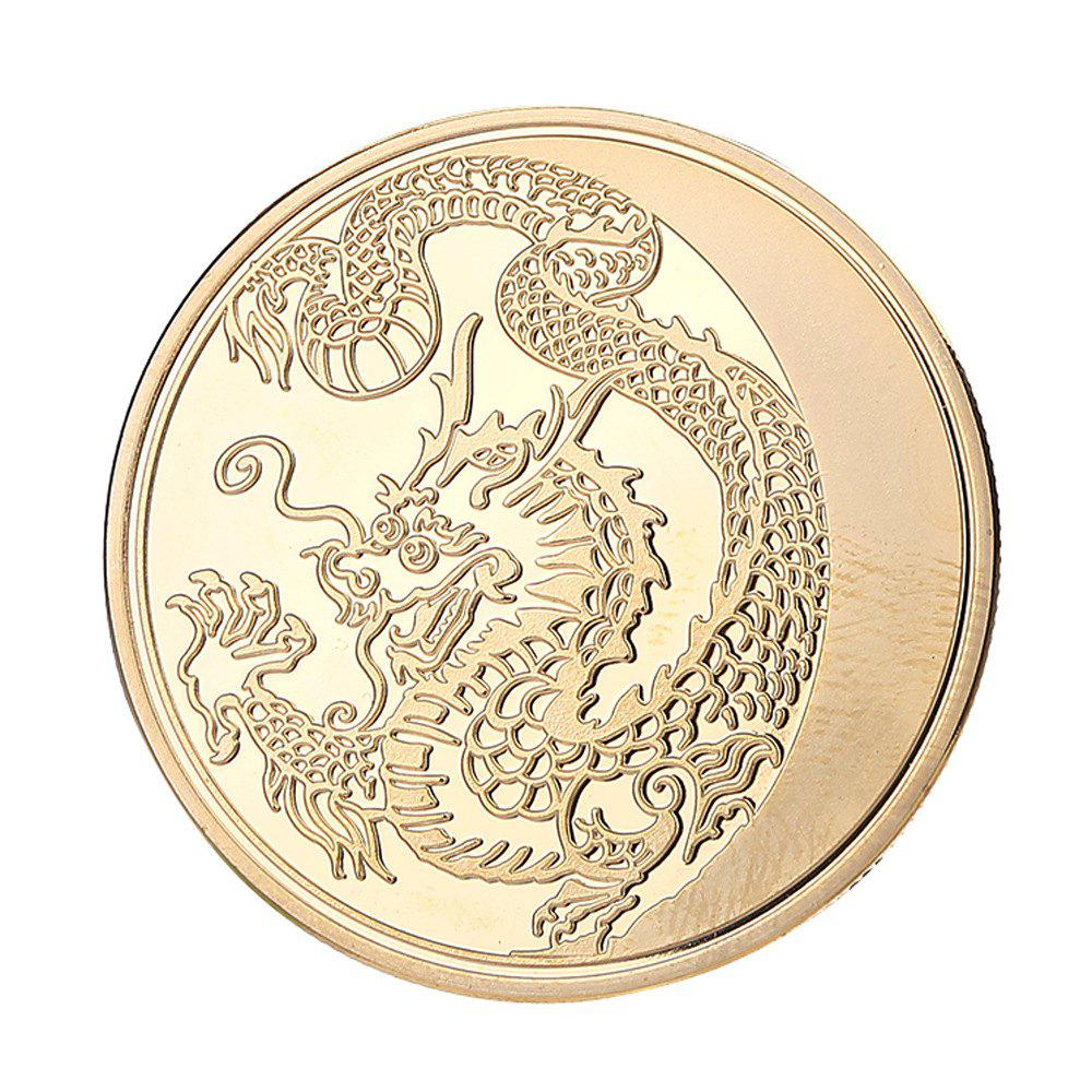 Golden Chinese Dragon Commemorative Coin Entertainment Coins - GOLD