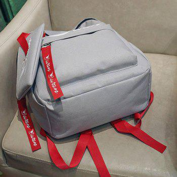 Canvas Print Simple Male Personality Backpack - LIGHT GRAY