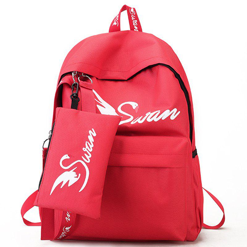 Canvas Print Simple Male Personality Backpack - BEAN RED