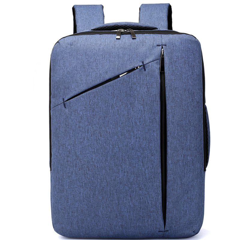 College Style Wild Backpack - BLUE LOTUS