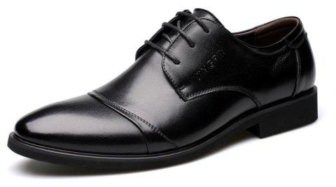 Men Soft Pointed Toe Offical Business Shoes - BLACK 41
